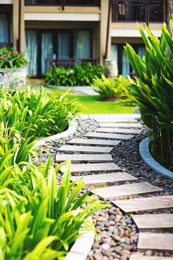 Gartenweg Ideen – Eine Barriere schaffen