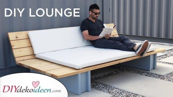 Ein bequemes Lounge Sofa – DIY Gartenmöbel für Sie