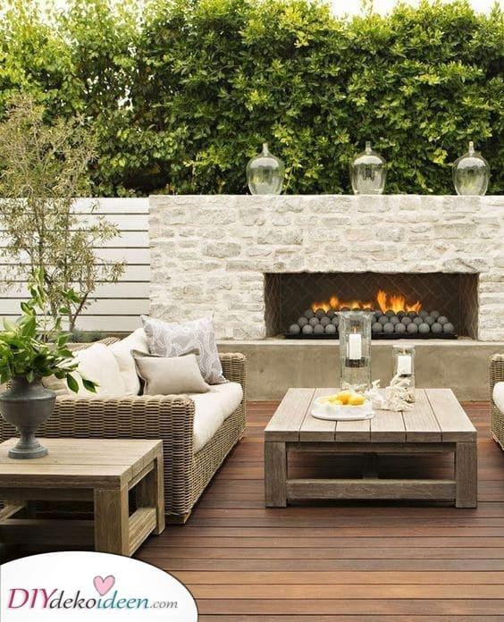 Sinn für Stil – Feuerstelle im Garten