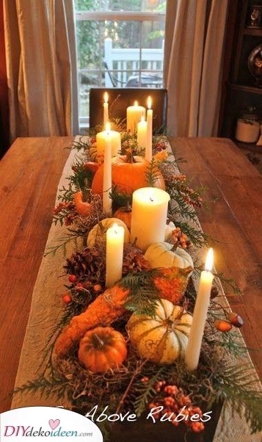 Rustikal und elegant – Tischdekoration im Herbst