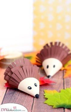 Papierigel – Einfaches basteln für Kleinkinder