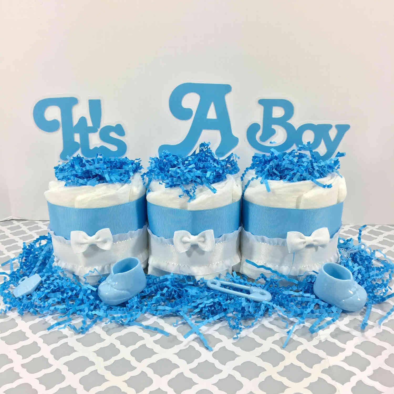 Es ist ein Junge – Blaue Windeltorten Geschenke