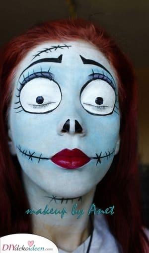 Sally – Halloween Make-up Ideen für Erwachsene