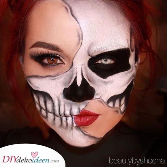 Erschreckendes Skelett – Einfache Halloween Schminke