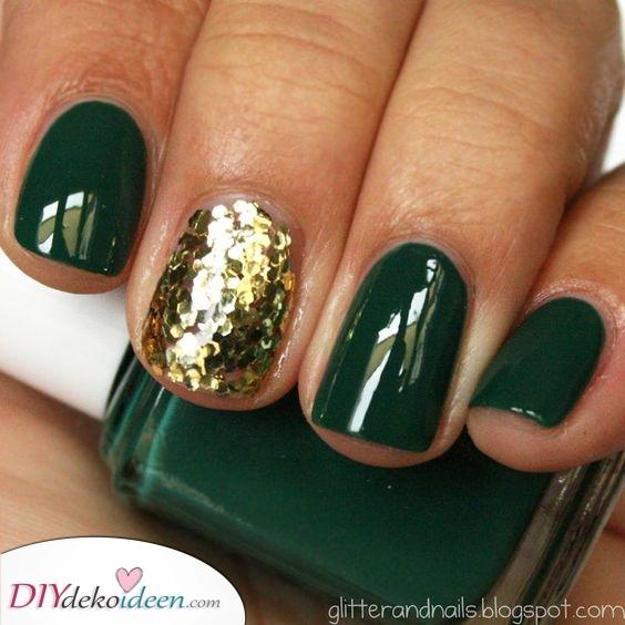 Fügen Sie etwas Glitzer hinzu – Grün und Gold