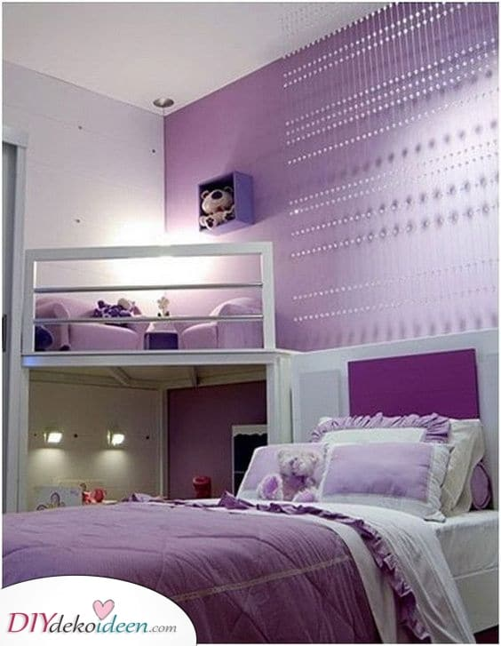 Perfekt in Lila – Mädchenzimmer Ideen