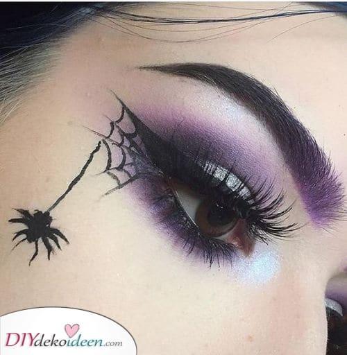 Spinne und Netz – Halloween Schminke für Erwachsene