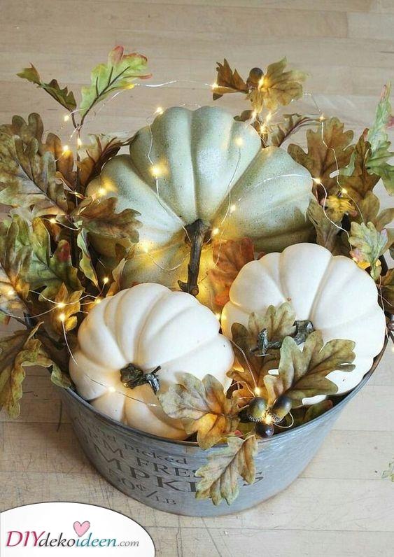 Beleuchten Sie die Kürbisse – Herbstdeko Ideen
