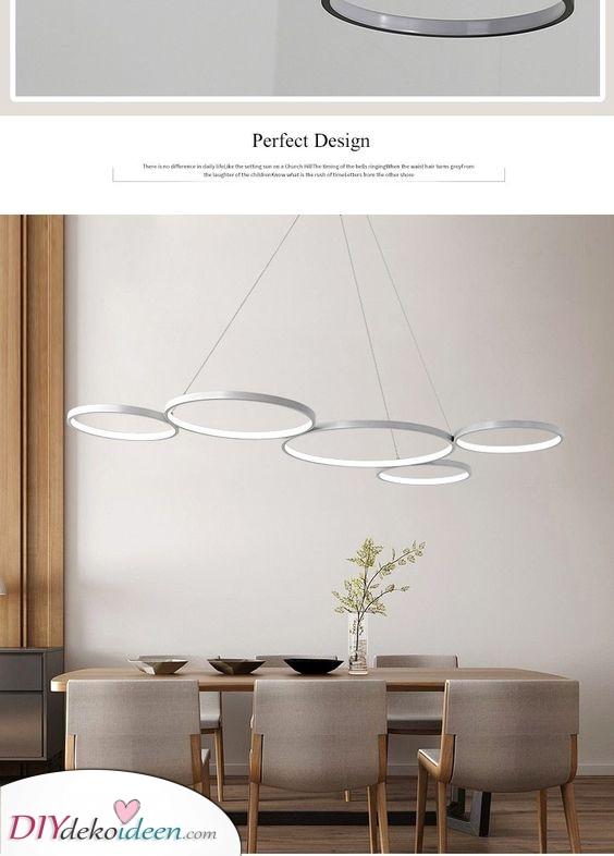 Im Kreis hängende Ringe – Esstisch Beleuchtung