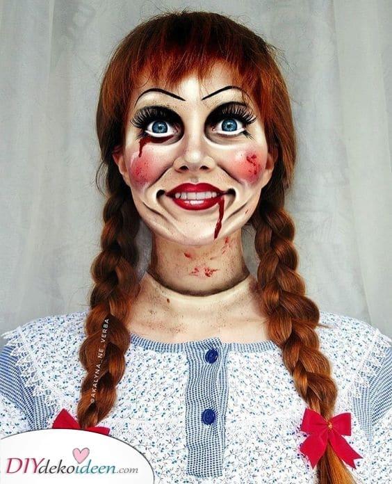 Annabelle Make-up – Die gruslige Puppe
