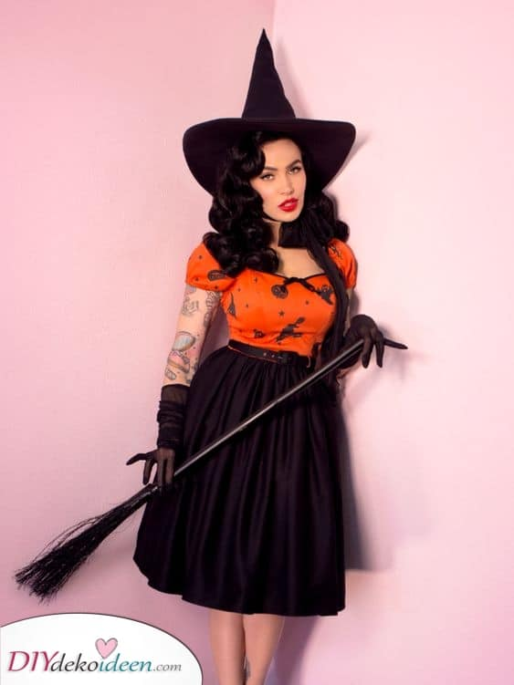 Eine böse Hexe – Sexy Halloween Kostüm Ideen