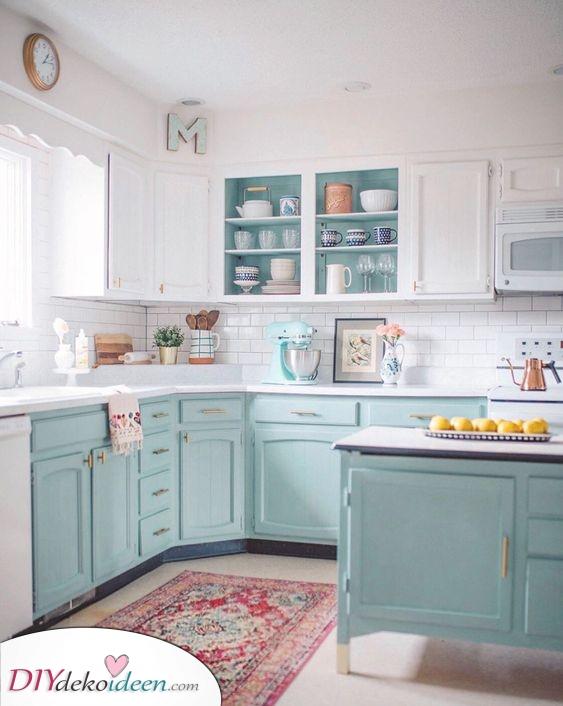 Gelassen und friedlich – Küchenschrank Ideen