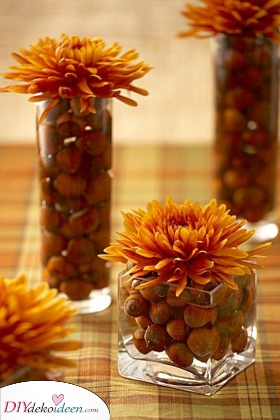 Eine Fülle von Eicheln – Herbst Tischdeko
