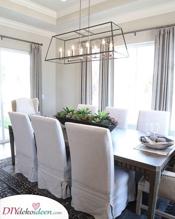 Ein Laternenleuchter – Moderne Esstisch Beleuchtung