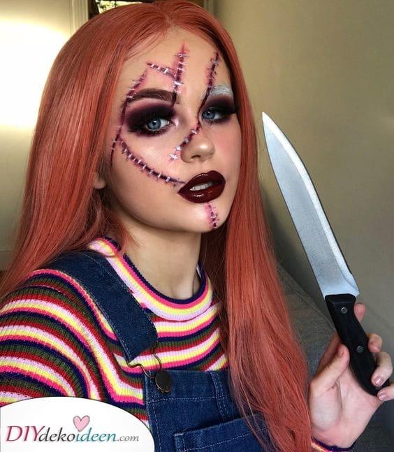 Chucky nachmachen – Einfache Halloween Make-up Ideen