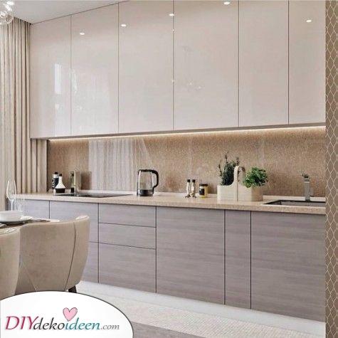 Moderne und elegante Ideen für Küchenschränke – Probieren Sie ein schickes Grau aus
