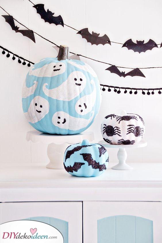 Ein klassisches Halloween – Einfache Kürbismalerei Ideen