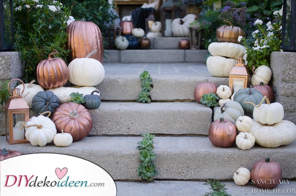 Dekorieren Sie Ihre Schritte – Kürbis Dekoration für Ihr Heim