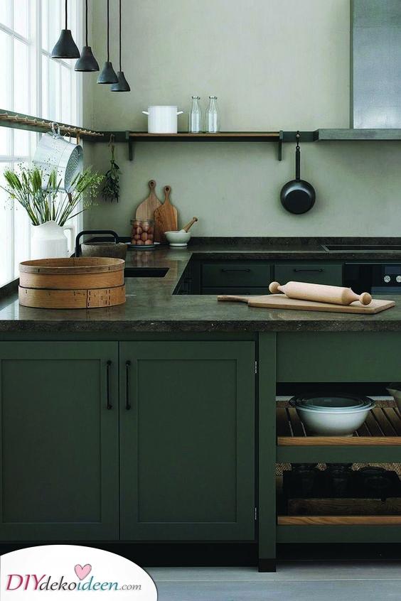 Ein moderner rustikaler Look – Küchenschrank Ideen