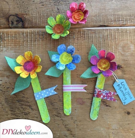 Eierkarton Blumen – Geschenke zum Muttertag