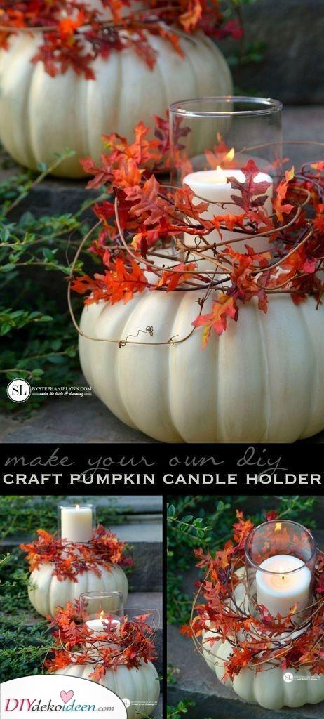 Fantastische Kerzenhalter – Herbstdeko für draußen
