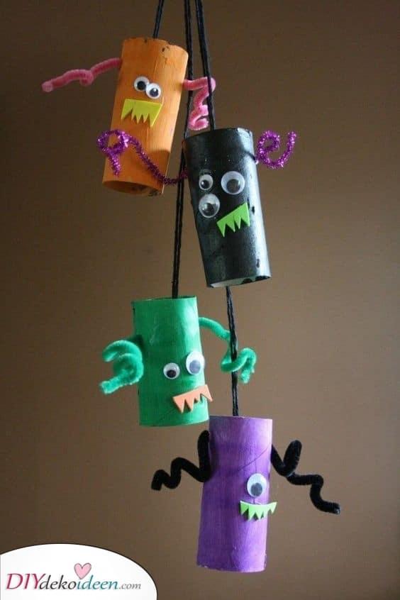 Mini Monster – Toiletten Papierrollen Bastelarbeiten
