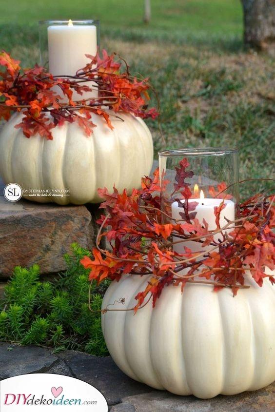 Kerzenhalter oder Kürbisse – Eine interessante Idee