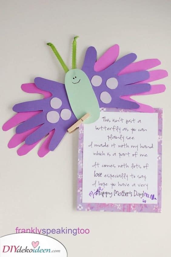 Handlicher Schmetterling – Muttertags Geschenke selber machen