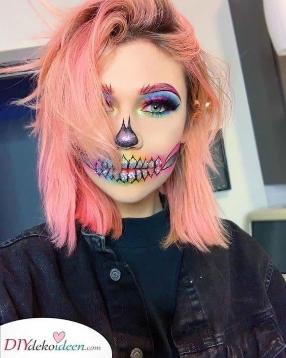 Glitzernder Glamour – Halloween Make-up Ideen für Erwachsene
