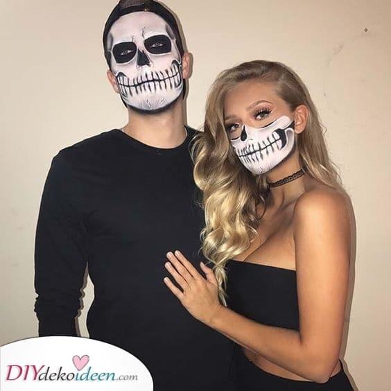 Make-up für Paare – Einfache und coole Halloween Schminke