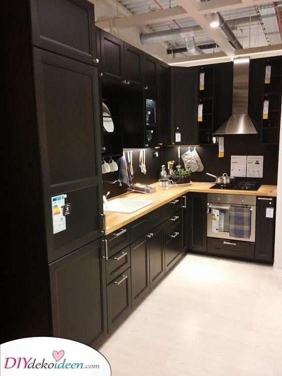 Moderne Küchen Ideen – Aufbewahrungsideen für Küchenschränke