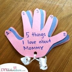 Fünf Dinge – Muttertags Geschenke selber machen