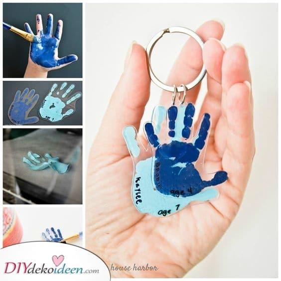 Handabdruck Schlüsselanhänger – Personalisierte Geschenke zum Muttertag