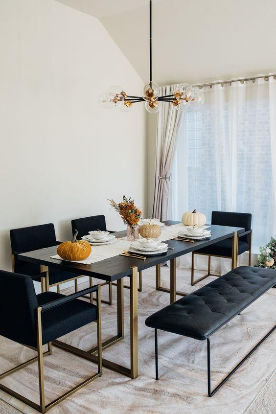 Minimalistisch und schick - Schaffen Sie ein herbstliches Ambiente mit stylische Esszimmer Ideen
