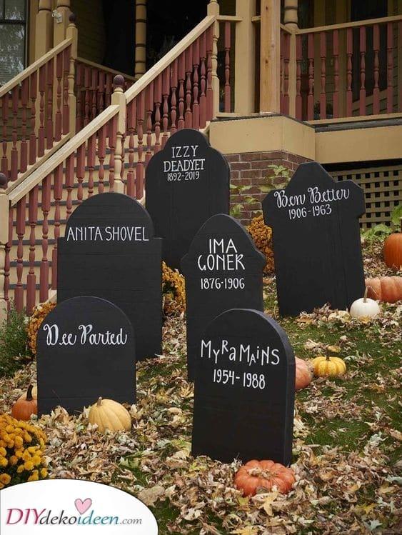 Ein kleiner Friedhof – Halloween Dekorationen
