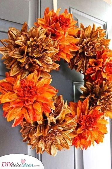 Blumenkranz – Herbst Tür Deko