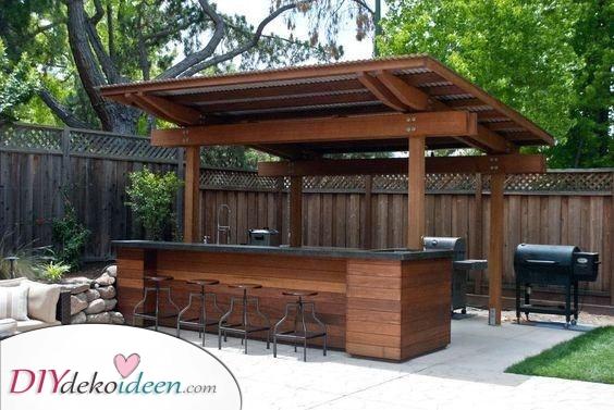 Eine Bar und ein Grill – Sommerhaus Ideen für Sie zum Selbermachen