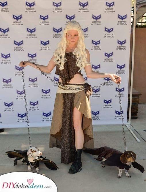 Daenerys und ihre Drachen – Halloween Kostüm Ideen