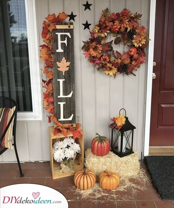 Herbstdeko im Garten – Herbstdekorationsideen für draußen