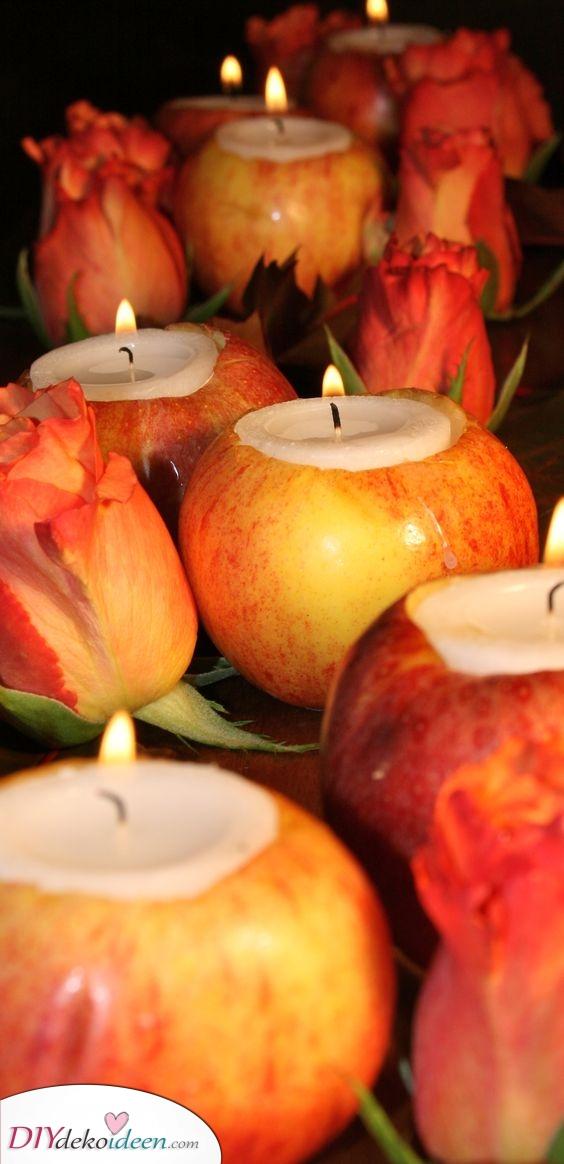 Apfelkerzen – Gestalten Sie Ihr eigenes Dekor