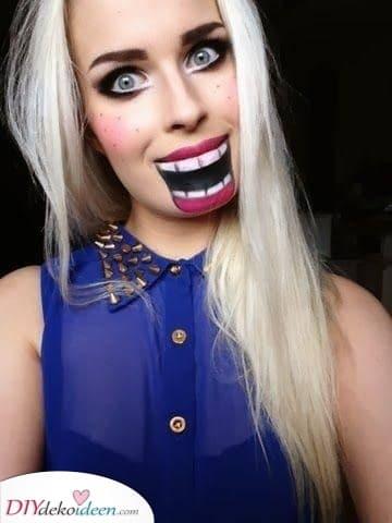 Eine Marionette – Halloween Make-up Ideen selber machen