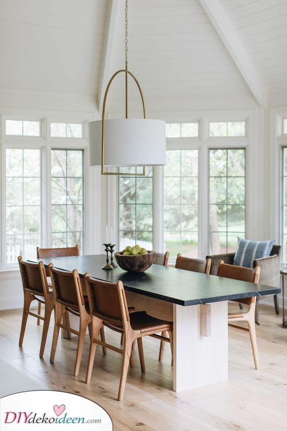 Weiß und fabelhaft – Moderne Lampen fürs Esszimmer