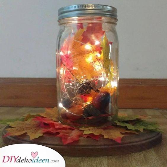 Herbstdeko Ideen – Mit Lichterketten