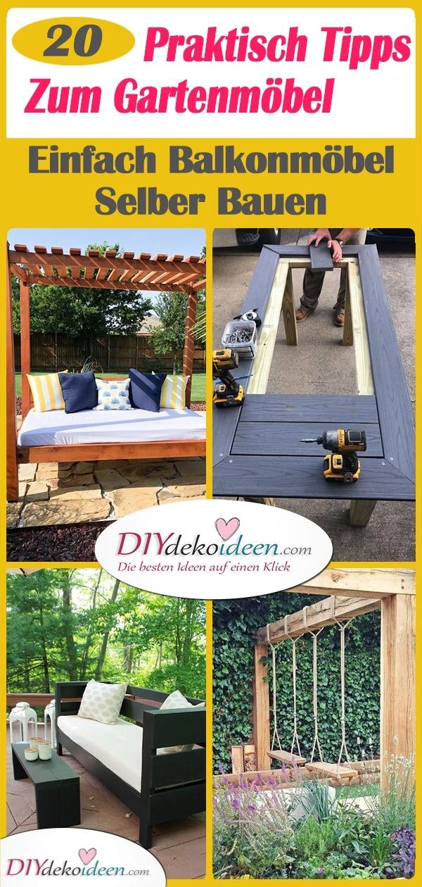 20 Praktisch Tipps Zum Gartenmöbel Selbst Bauen - Einfach Balkonmöbel Selber Bauen