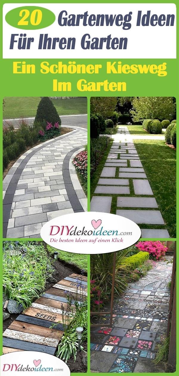 20 Gartenweg Ideen Für Ihren Garten – Ein Schöner Kiesweg Im Garten