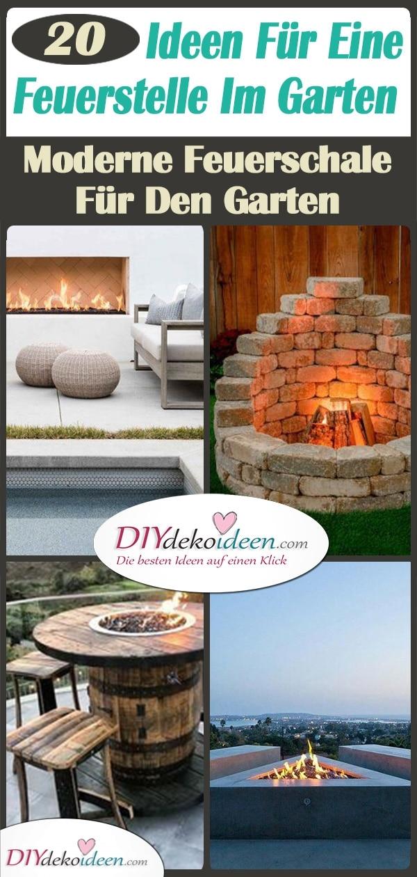 20 Ideen Für Eine Feuerstelle Im Garten – Eine Moderne Feuerschale Für Den Garten