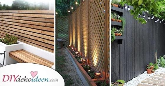 20 Praktische Gartenzaun Ideen - Ideen Für Den Gartenzaun Zum Selber Machen