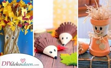 25 Tolle Tipps Zum Herbstdeko Selber Machen Mit Kindern - Herbstlich Basteln Mit Kindern