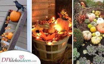 25 Tolle Ideen Für Ihre Herbstdeko Im Garten - Herbstdeko Für Draußen