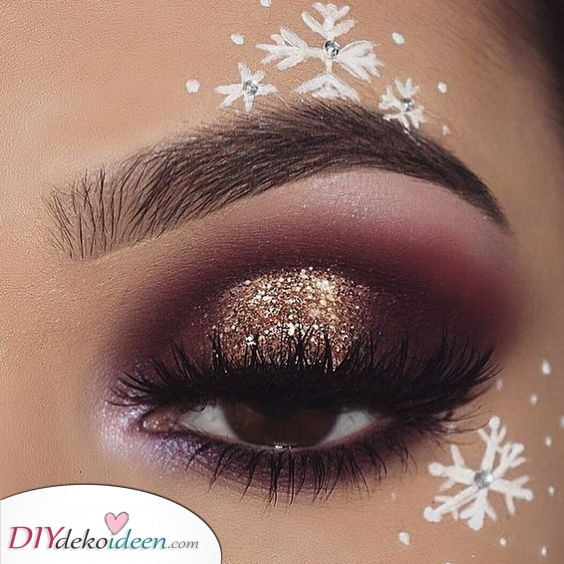 Fallende Schneeflocken – Weihnachts Make up